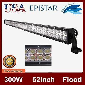 52 inch 300w Led Work Light Car Offroad Truck 4wd Flood Driving Atv Save Combo