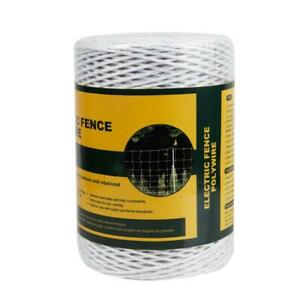 Farmily Portable Electric Fence Polywire 1312 Feet 400 Meter 6 Conductors