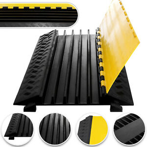 5 Channel Cable Protector Ramp Rubber Electrical Wire Cover Guard Warehouse Cord