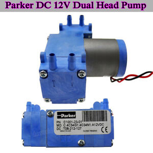 Parker Dc12v D1001 23 01 Brushless Vacuum Pump Diaphragm Pump Dual Head Air Pump