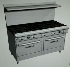 Southbend 4601dd 60 Gas Range With 10 Burners And 2 Stanard Ovens