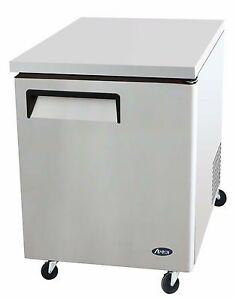 Atosa Stainless Steel Under counter 27 inch One Door Freezer Energy Star Rated