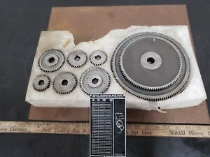 South Bend Heavy 10 Metric Transposing Gear Set Complete Nos