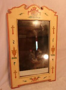Antique Tole Painted Frame With Mirror 17x28 Mirror 12x20 1 4 Molding 3