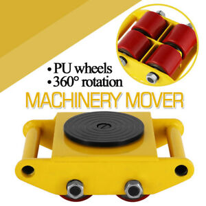 3 X 3 Heavy Duty Machine Dolly Skate Machinery Roller Mover Cargo Trolley 6 Ton