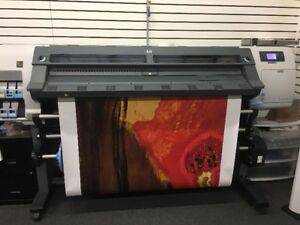 Used hp designjet l25500 wide format latex printer 60 inch