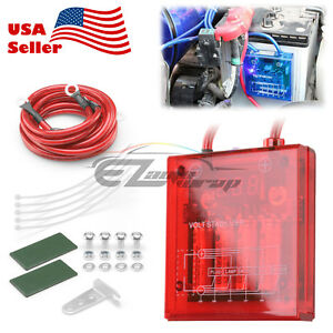 Universal Car Battery Red Voltage Stabilizer Regulator Ground Power Efficiency