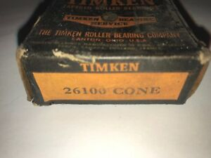 Timken 26100 Tapered Roller Bearing Cone New Old Stock New other
