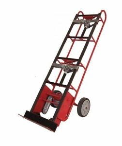 Stevens Steel Frame Appliance Truck With 4 Wheels Dual Strap Auto Rewind Ratchet