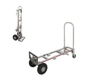 Magliner Gemini 18 Nose 10 Smooth Tire Convertible Sr Hand Truck 2 to 4 Wheel