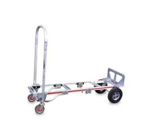 Magliner Gemini sr Convertible Hand Truck 2 to 4 Wheel With 10 X 2 3 4 Tires