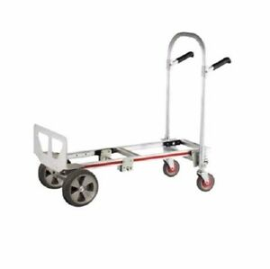 Gemini Jr Convertible Aluminum Hand Truck With 10 Solid Rubber Wheels Magliner