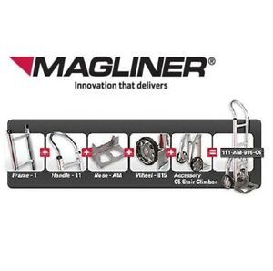 Magliner Hand Truck W Curved Frame 60 Pin Grip Handle 18 Nose 10 Air Tire