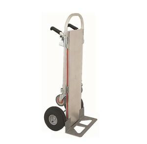 Magliner Gemini Jr 2 position 18 Nose 10 Tire Hand Truck With Solid Deckplate