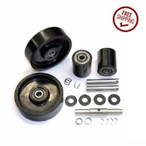 Mobile Mlx55 Pallet Jack Wheel Kit complete includes All Parts S