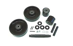 Jet a Pallet Jack Wheel Kit complete includes All Parts Shown