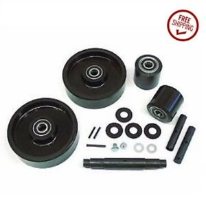 Jet A Models Pallet Jack Wheel Kit complete includes All Parts Shown