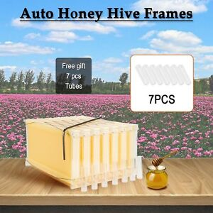 7pcs 2 generation Auto flowing Honey Hive Bee Beekeeping Hives Frames Harvesting