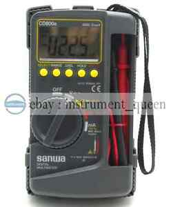 Sanwa Cd800a Digital Multimeter Dmm 4000 Volt Counter Tester Meter New