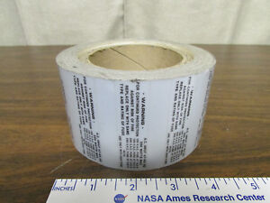 Roll Silver Safety Stickers For Electronics Test Equipment Use Original Fuse Etc
