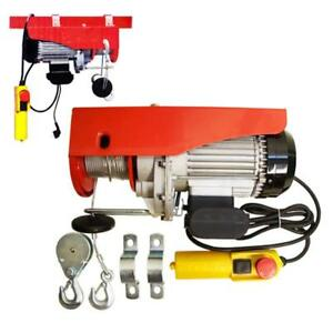 440 Lb 880 Lb Electric Wire Rope Cable Hoist Lift Pulley 980 W