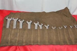 Blue Point And Snap On 12 Piece Wrench Set 1 1 8 To 7 16 Good Condition P21