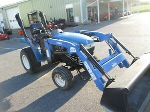 1999 New Holland Tc21d Diesel 4x4 Loader Tractor 4wd 21hp Turf Hst Drive Used