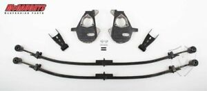 Mcgaughys Chevy Gmc 2 4 Lowering Kit 2014 To 2017 4wd Stamped Steel Arms 34310