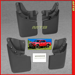 Splash Guards Front Rear For 16 18 Toyota Tacoma Mud Flaps Complete Set Combo
