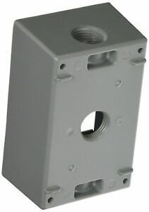 Pack Of 16 Taymac Sb350s Weatherproof Box 1 gang 3 1 2 inch Outlets Gray