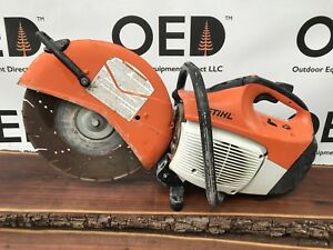 Stihl Ts420 Concrete Cut off Saw W Diamond Tip Blade great Shape Fast Ship