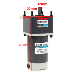 Dc 12v 24v 90w Permanent Magnet Dc Geared Motor Adjustable Speed Cw ccw 5d90gn c