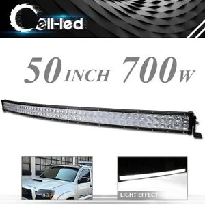 Curved 50inch Led Light Bar 700w Flood Spot Combo Roof Driving Boat Suv 4wd 52