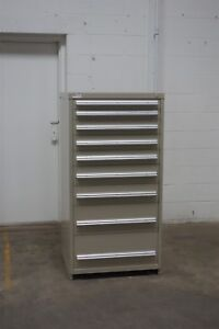 Used Stanley Vidmar 9 Drawer Cabinet Industrial Tool Parts Storage 620