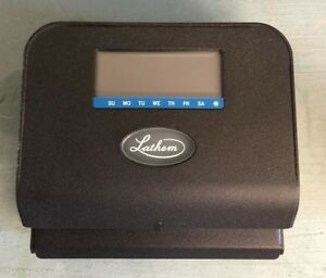 Lathem Thermal Time Clock With Auto Print Gray model 800p