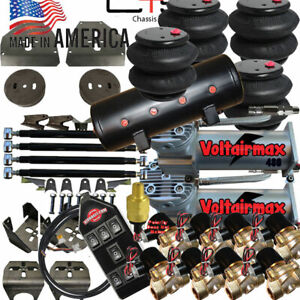 B C10 Air Ride Suspension Kit Chevy 1973 87 3 8 Valves 14 function Remote 4link