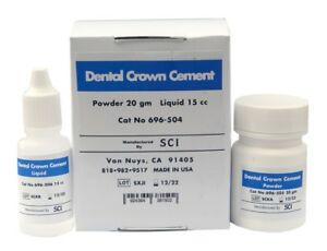 Dental Crown Adhesive By Sci Permanent Glass Ionomer Orthodontic Dental Cement