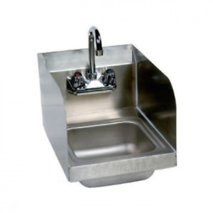 Stainless Steel Hand Sink With Side Splash Nsf Commercial Equipment 10 X 14