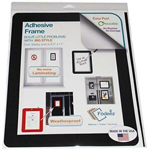 Self stick Adhesive Sign Holder dry Erase Board Black 8 5 x11 Pack Of 25