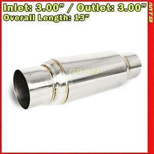 9 Inch Resonator Muffler Glass Pack 3 Inches In Out Stainless Steel Universal