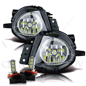 06 08 Replacement Bmw E90 3 Series Fog Lights W Led Bulbs Clear Pair Set