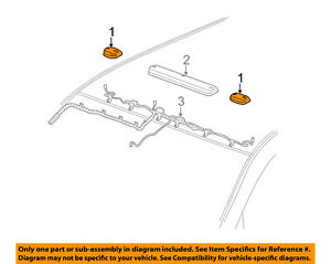 Gm Oem Roof Lamps roof Lamp Assembly Right 22794643