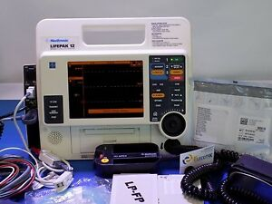 Lifepak 12 Biphasic 12 Leads Wifi Spo2 Nibp Etco2 Paddles Printer El Screen