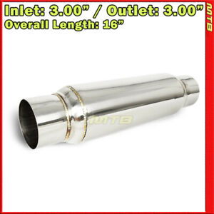 12 Inch Resonator Muffler Glass Pack 3 Inches In Out Stainless Steel 212421