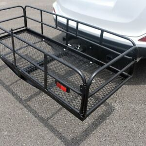 60 Steel Folding Hitch mount Cargo Carrier Mounted Basket Luggage Rack Portable
