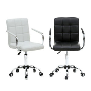 Pu Leather Swivel Office Chair Executive High Back Ergonomic Computer Desk Task