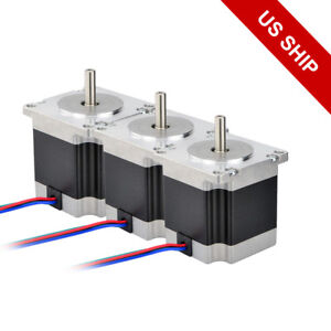 Free Ship 3pcs Nema 23 Stepper Motor 179oz in Cnc 2 8a Hobby Diy 3d Printer