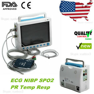 Icu Ccu Patient Monitor 6 parameter Vital Signs Portable Medical Machine Cms8000