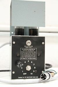 Gkh Heller 2t 60 Motor Controller Reversing Switch W 2 2050a Vacuum Tubes