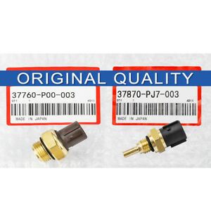 2pcs Oem Coolant Temperature Sensor Switch For Honda Cr V Civic Acura Isuzu